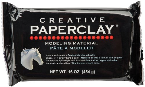 Creative Paperclay for Modeling Compound, 16-Ounce, White -