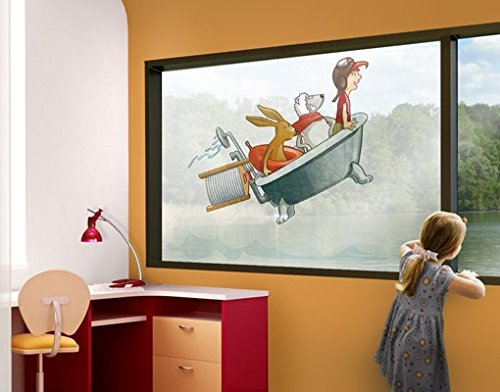 ウィンドウFlyingファームバスタブ用ウィンドウステッカーウィンドウフィルム窓ガラスウォールステッカーウィンドウアートウィンドウ飾りウィンドウ装飾 28.3x42.5 inches 43682 B00UXK0YJ4 28.3x42.5 inches28.3x42.5 inches