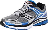 Saucony Men's Stabil CS3 Running Shoe,Silver/Blue/Black,10 M US