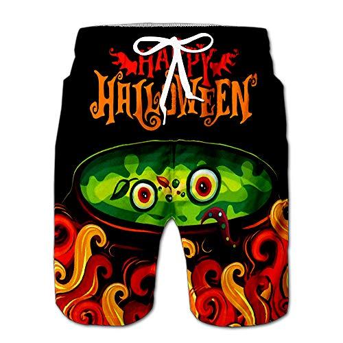 Halloween Party Invitation Spooky Frying Greetings Wings Label Hap Drawstring Shorts Beach Baskestball Pants -