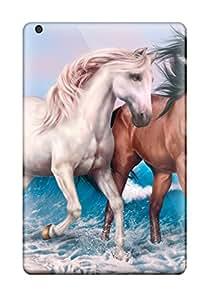 Tpu Case Cover For Ipad Mini 2 Strong Protect Case - Horse Design 8605637J77819896