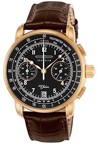 ZEPPELIN watch 100 anniversary model black dial 7676-2 Men's parallel import goods]