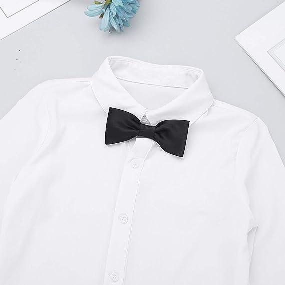 iixpin Mailot Camisa de Danza Latino para Niños Body de ...