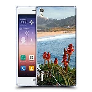 Super Galaxy Coque de Protection TPU Silicone Case pour // V00000327 Carmel River Beach California // Huawei Ascend P7