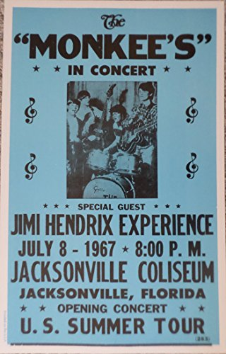 The Monkee's with Special Guest Jimi Hendrix Poster
