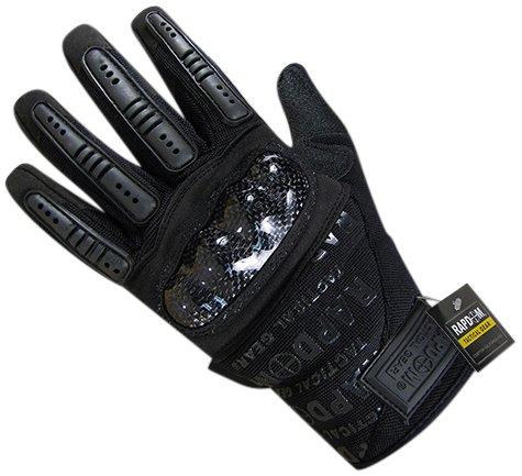 Rapdom Tactical Carbon Fiber Combat Gloves, Black, X-Large by RAPDOM