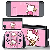 Ci-Yu-Online VINYL SKIN [NS] Hello Kitty Pink STICKER DECAL COVER for Nintendo Switch Console and Joy-Con Controllers Review