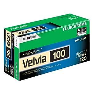 Fujifilm 16326107 Fujichrome Velvia 120mm 100 Color Slide Film ISO 100 - 5 Roll Pro Pack (Green/White/Purple)