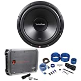 Rockford Fosgate R2D2-12 12'' 250W DVC 2-Ohm Car Sub+500W RMS Amplifier+Amp Kit