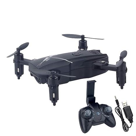 WANGKM Mini Drone, Drones Portátiles Plegables 2.4G Pocket RC ...