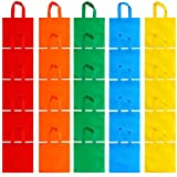 Aneco 25 Pack 10 x 10 Inch Non-woven Tote Bags Party Gift Bag Goodie Treat Bags with Handles Party Favor, 5 Colors