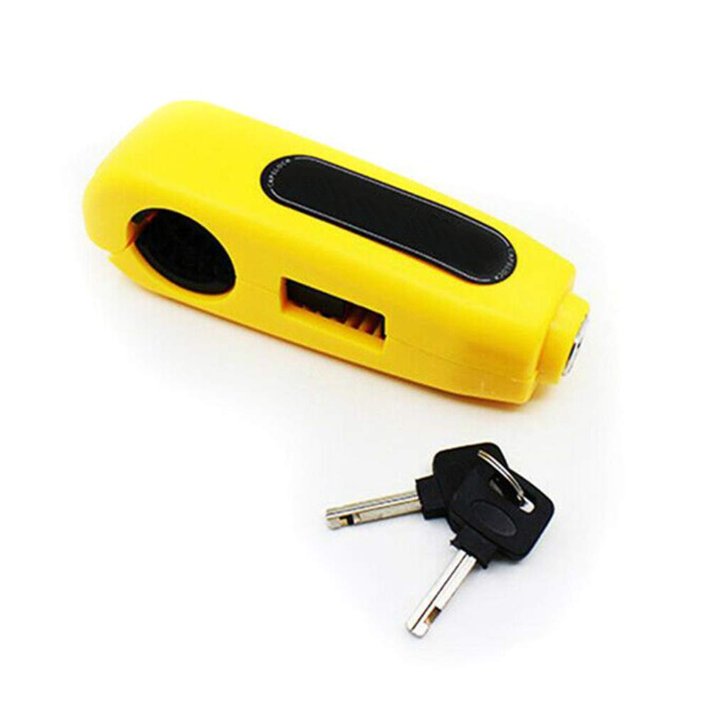 Talla /única Amarillo QUEENBACK Candado de Seguridad antirrobo Bloqueo de Freno para Manillar de Motocicleta