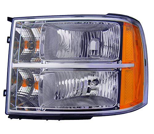 For 2007 2008 2009 2010 2011 2012 2013 Gmc Sierra 1500 / Hybrid | 2500 | 3500 Headlight Headlamp Driver Side Replacement