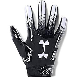 Under Armour Men's F6 Football Gloves, Black (001)/White, Medium