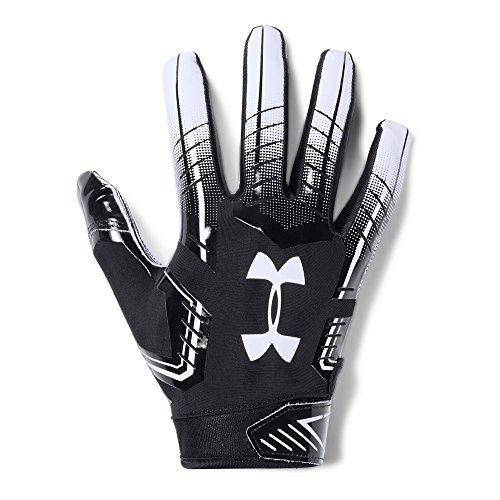 Under Armour Men's F6 Football Gloves, Black (001)/White, Large