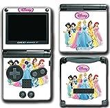 Princess Friends Ariel Cinderella Belle Jasmine Queen Video Game Vinyl Decal Skin Sticker Cover for Nintendo GBA SP Gameboy Advance System