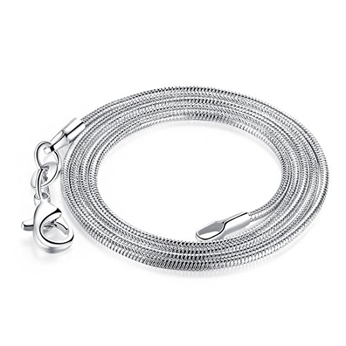 Hermosa 12 PCS/Lot 925 Silver Plated 1.2mm Snake 0.8mm Very Thin Nickel Free Italy Chain Necklace 16