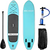 YUEBO Inflatable SUP Stand Up Paddle Board, iSUP Paddle Board with Travel Backpack, Adjustable Paddle and Dual Action High Pressure Pump, 120'' x 30'' x 6'' (6 Inch Thickness)