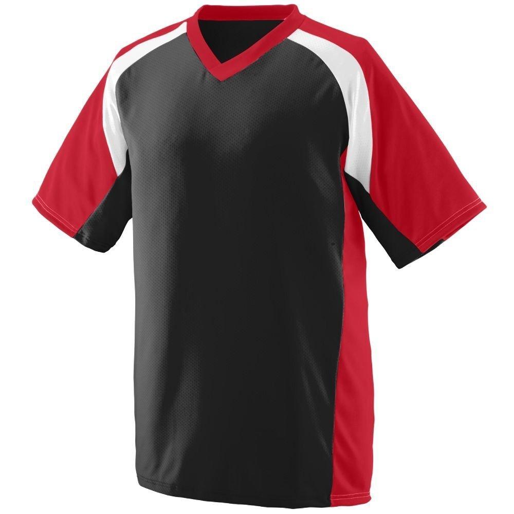 Augusta SportswearメンズNitro Jersey B00HJTNFFW Small|ブラック/レッド/ホワイト ブラック/レッド/ホワイト Small