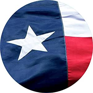 Texas State Flag 3x5 - 100% Made In USA using Tough, Long Lasting Nylon Built for Outdoor Use, UV Protected and Featuring A Bright Appliquéd Star and Sewn Using Superior Quadruple Stitching on Fly End