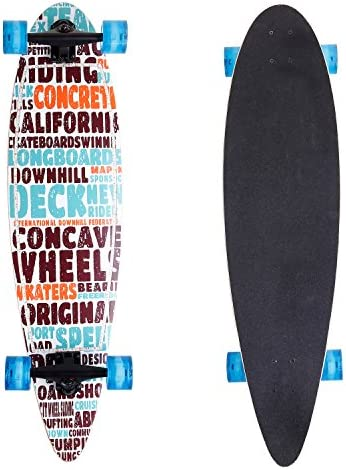 ANCHEER 40 Longboard Pintail Cruising Style Complete Long Skateboard for Adult Teens and Kids Age 8 Up