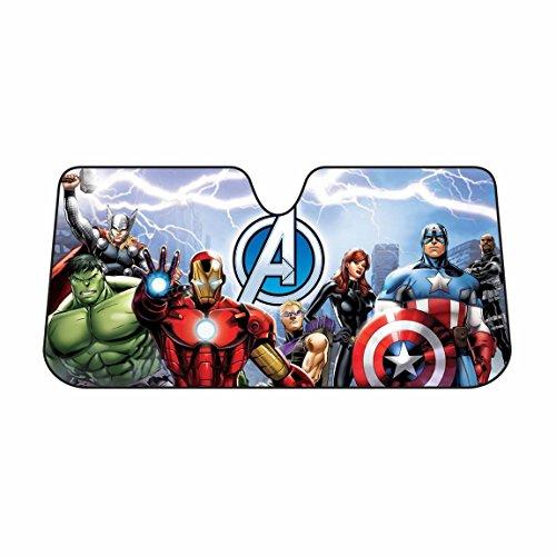Infinity Stock Marvel Avengers Auto Sun Shade Universal Size Fit 58″ x 27″ – Windshield Car Truck SUV Sunshade – Interior Accessories (Marvel Avengers)