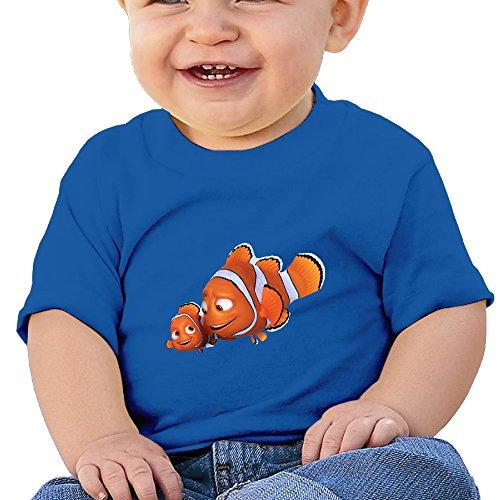 Price comparison product image Kim Lennon Cartoon Nimo Fish Custom Baby High Quality Tee RoyalBlue Size 24 Months