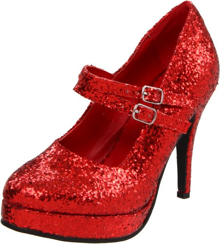 Ellie Shoes Women's 421-Jane-G Maryjane Pump,Red Glitter,6 M US]()