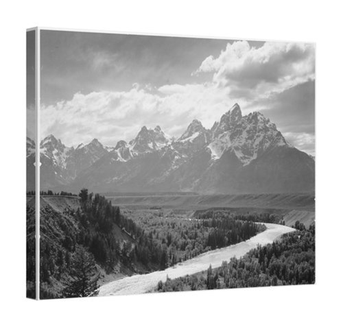 Easy Art Prints Ansel Adams's 'Grand Teton National Park' Premium Canvas Art 10 x 8