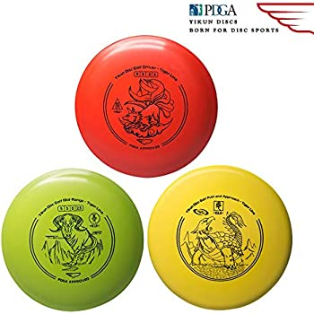 a9377c3c0 Yikun Discs Professional Disc Golf Set 3 in 1|Includes Driver,Mid-Range and  Putter|165-176g|Perfect Outdoor Games for Kids and Adults