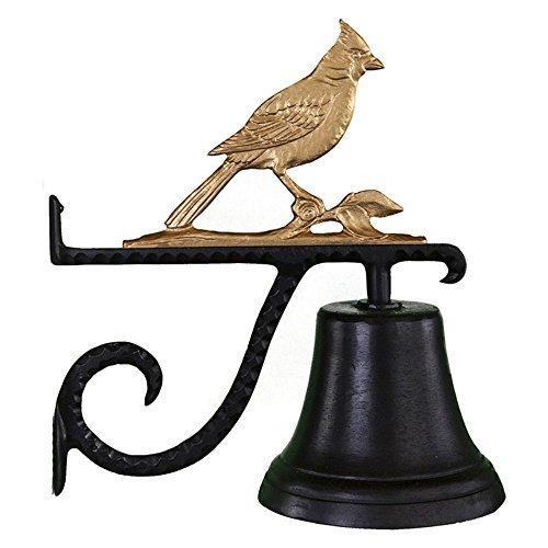 Montague Metal Products Cast Bell with Gold Cardinal by Montague Metal Products by Montague Metal Products