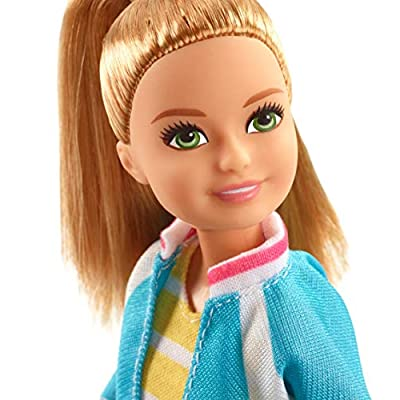 Barbie Dreamhouse Adventures Stacie Doll, Approx. 9-Inch, Blonde in Denim Shorts and Jacket, Gift for 3 to 7 Year Olds: Toys & Games