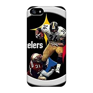 Iphone 5/5s NjX143RHBV Pittsburgh Steelers Hard Silicone Gel Case Cover. Fits Iphone 5/5s