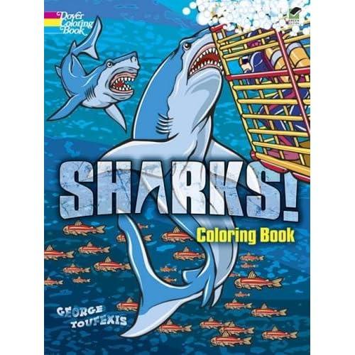 Sharks Coloring Book Amazon Com