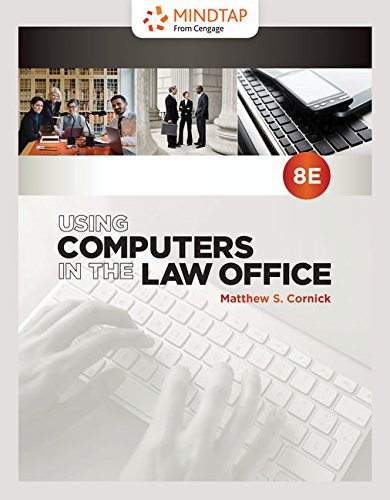 MindTap Paralegal, 1 term (6 months) Printed Access Card for Cornick's Using Computers in the Law Office, 8th (Law The Using In Computers Office)