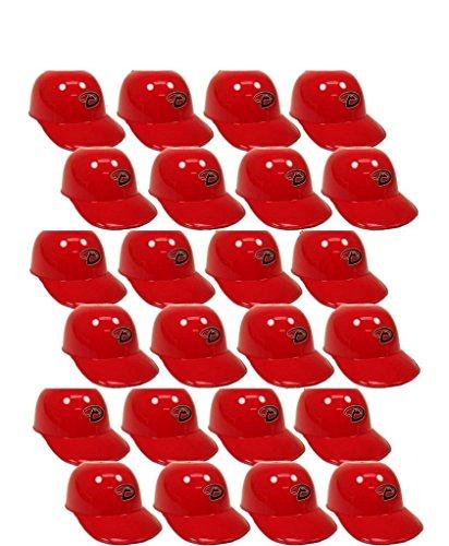 fan products of BD&A MLB Mini Batting Helmet Ice Cream Sundae/Snack Bowls, Diamondbacks - 24 Pack