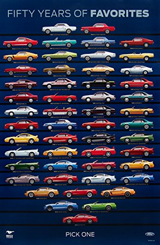 Mustang 50th Anniversary Poster Mustang Evolution Poster