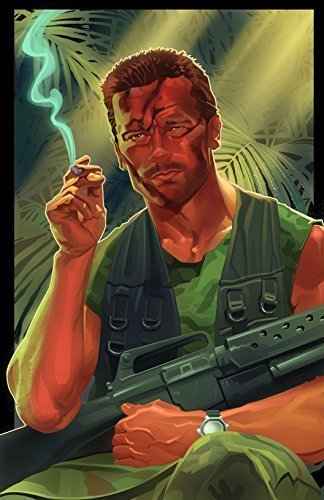 Dutch Arnold Schwarzenegger Predator Illustration Print, 11