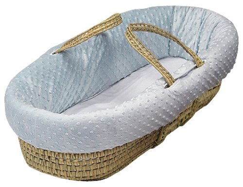Baby Doll Bedding Heavenly Soft Moses Basket, Blue - Heavenly Soft Cradle Sheet