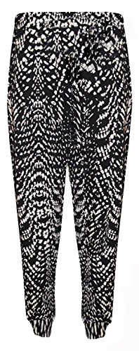 FASHION FAIRIES - Pantalones harén con parte inferior ceñida talla grande para mujer, talla 40-56 SNAKE SKIN PRINT