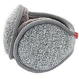 LerBen Unisex Knit Adjustable Wrap around Ear Muffs Winter Warm Fur Ear Warmers gray