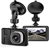 Dash Cam, Camera for Cars with Full HD 1080P 170 Degree Super Wide Angle Cameras, 3.0 TFT Display, WDR, G-Sensor, Loop Recording …