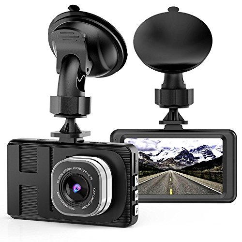 Dash Cam, Camera for Cars with Full HD 1080P 170 Degree Super Wide Angle Cameras, 3.0″ TFT Display, G-Sensor, WDR, Loop Recording