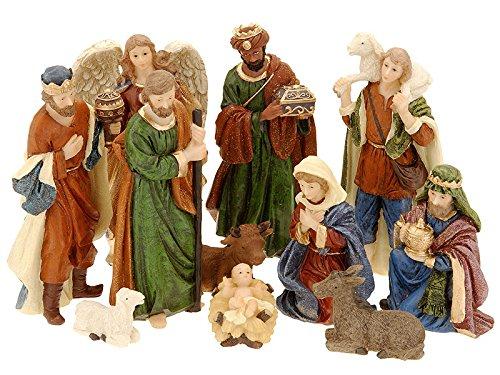zeitzone Wunderschöne Krippenfiguren Set Weihnachten 11 teilig