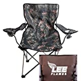 CollegeFanGear Lee University Hunt Valley Camo Captains Chair 'Official Logo'