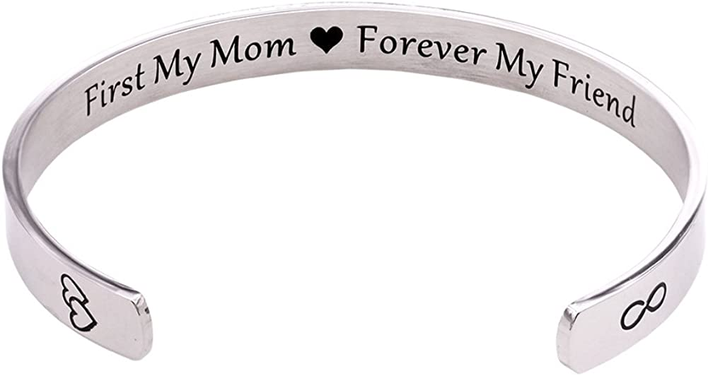 Melix Home Mom Gifts Bracelet First My Mom Forever My Friend for Mom from Daughter