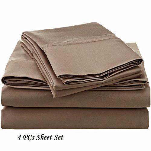 Ethereal Bedding Mega Sale 500-TC Egyptian Cotton ( Cot Bed 30x75 Size ) 4-Piece Sheet Set Fits Mattress 9