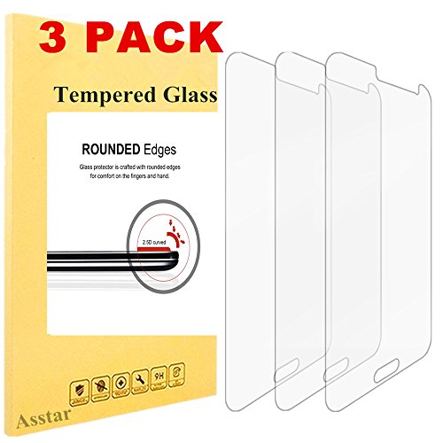 Price comparison product image [3 Pack] Galaxy J3 / Express Prime / Amp Prime Premium Tempered Glass Screen Protector,  Asstar High Definition (HD) Touch screen 0.3mm 2.5D for Samsung Galaxy J3 / Express Prime / Amp Prime (3)