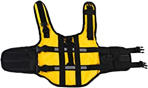 Balacoo Dog Life Jacket Adjustable Ripstop Pet Preserver Lifesaver Doggy Flotation Device with Superior Buoyancy and Rescue Handle
