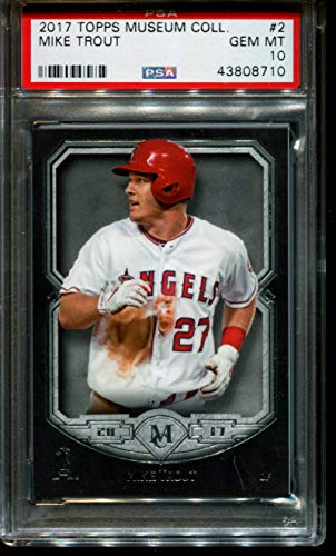 2017 TOPPS MUSEUM COLLECTION #2 MIKE TROUT ANGELS PSA 10 B2712522-710